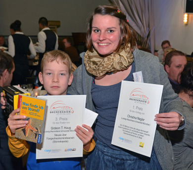 Award winners Christina and Gideon; Photo: Oliver Mengedoht/Panzerwelten.de